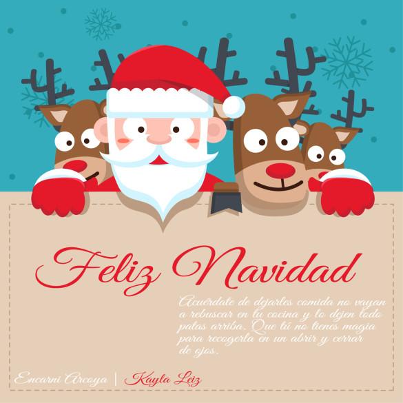 Santa Claus and Reindeer Illustration-CS2